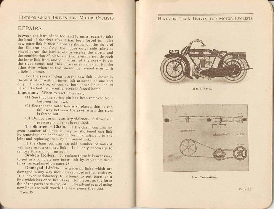 Renold Chain 1917 18