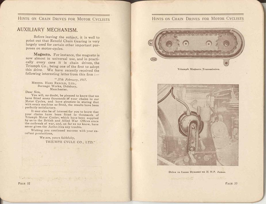 Renold Chain 1917 19