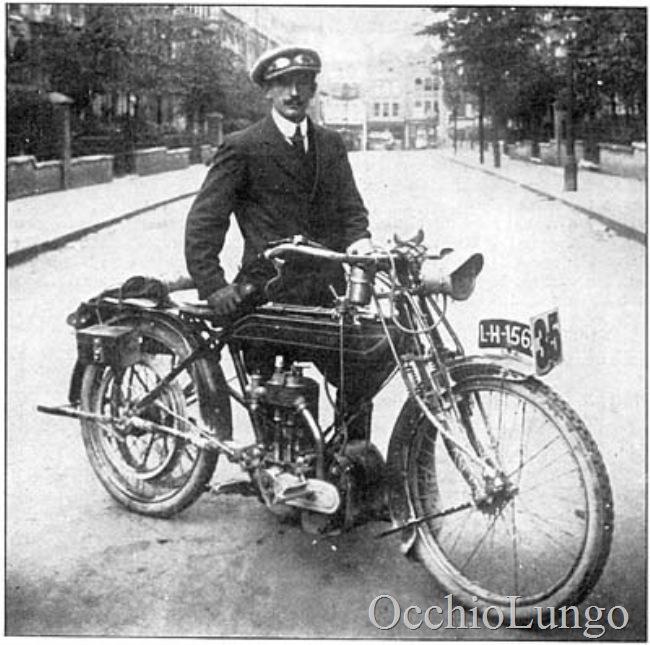 Mr Ingram with 1913 Veloce