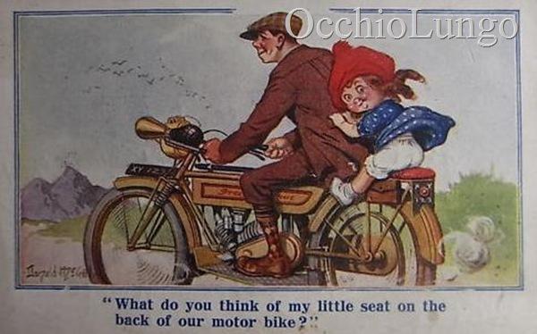 seat on a motorbike