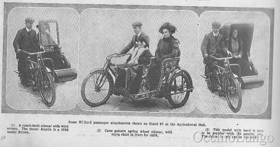 1910 Milford sidecars