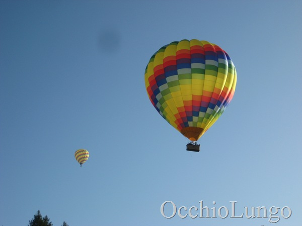 hot air balloons above Partrick Road