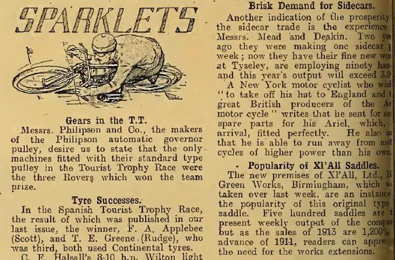 sparklets july 1913