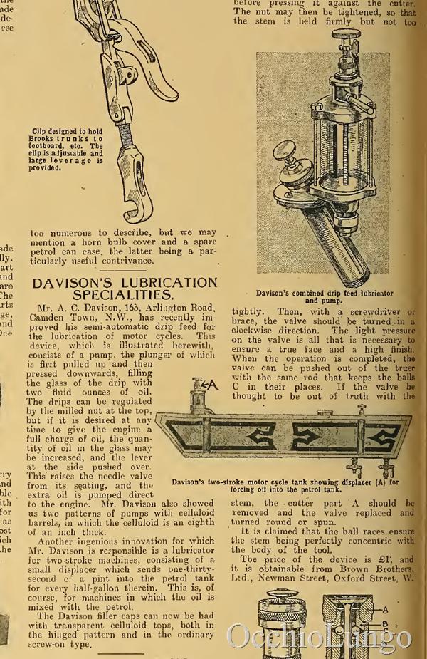 davison oil pump 1913