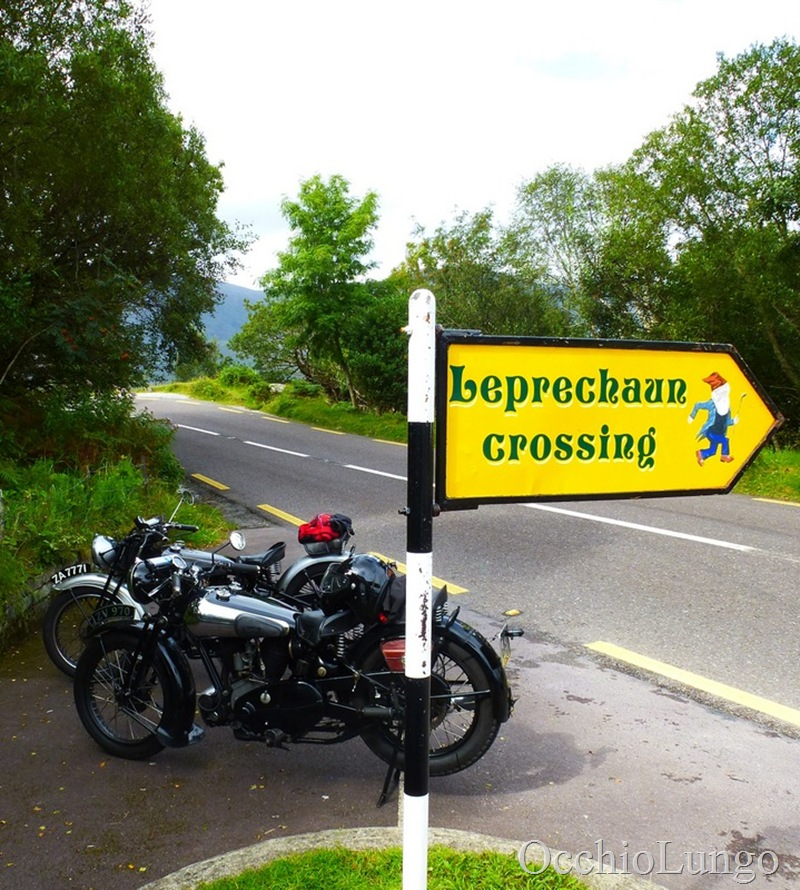 leprechan crossing Brough Superior