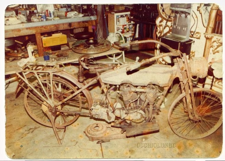 1915 Harley before restoration